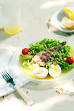 Summer salad with fish Royalty Free Stock Photo