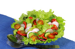 Summer salad of fresh vegetables Stock Photo