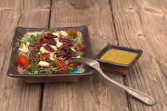 Summer salad with micro greens Stock Photography