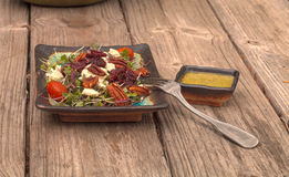 Summer salad with micro greens Stock Images