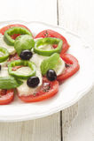 Summer salad on a plate Royalty Free Stock Photography