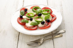 Summer salad on a plate Royalty Free Stock Photos