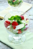 Summer salad with strawberries, cheese Stock Photo