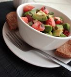 Summer Salad of Tomato & Avocado Royalty Free Stock Photography