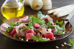 Summer salad with water-melon Royalty Free Stock Image