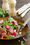 Summer salad with water-melon Stock Photography