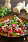 Summer salad with water-melon Stock Images