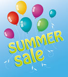 Summer sale. S background with balloons Royalty Free Stock Image