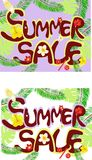 Summer sale Royalty Free Stock Photo