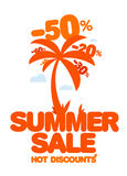 Summer sale. Royalty Free Stock Photography