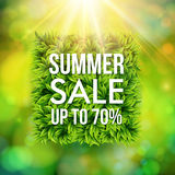 Summer sale advertisement poster. Royalty Free Stock Photo