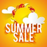 Summer Sale Background Stock Photography