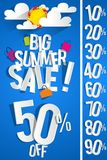 Summer Sale Background Stock Image
