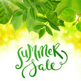 Summer sale background Royalty Free Stock Images