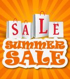 Summer sale background Stock Photo