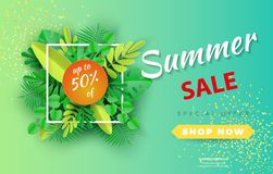 Summer sale background layout for banners,Wallpaper,flyers, invitation, posters, brochure, voucher discount.Vector illustration te royalty free illustration