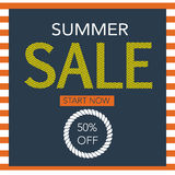 Summer Sale background with navy style Royalty Free Stock Photo