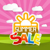 Summer Sale Background with Sun Stock Photos