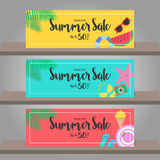 Summer sale background for template design. Vector illustration. Royalty Free Stock Images