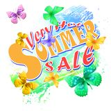 Summer sale 01. Summer sale background, vector illustration clip-art Royalty Free Stock Images