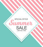 Summer Sale Background Vector Illustration Stock Photography