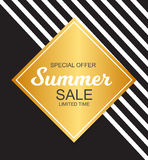 Summer Sale Background Vector Illustration Stock Images