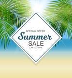 Summer Sale Background Vector Illustration Stock Image