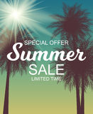 Summer Sale Background Vector Illustration Royalty Free Stock Photos