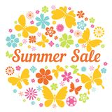 Summer sale badge Royalty Free Stock Images