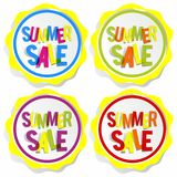 Summer Sale Badges Stock Images