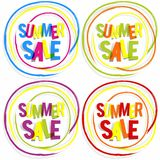 Summer Sale Badges Royalty Free Stock Images