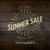 Summer sale badges logos and labels for any use Royalty Free Stock Images