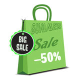 Summer sale bag Royalty Free Stock Photos