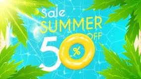 Summer sale banner Stock Image