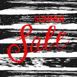 Summer Sale banner with black  stripes and spray. Royalty Free Stock Photos