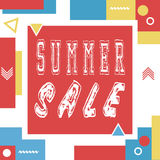 Summer sale banner for booklet, flyer, poster, advertising logo, leaflet. Summer sale banner for booklet, flyer, poster, advertising logo, leaflet for the Royalty Free Stock Photography