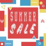 Summer sale banner for booklet, flyer, poster, advertising logo, leaflet   Royalty Free Stock Photography