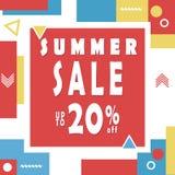Summer sale banner for booklet, flyer, poster, advertising logo, leaflet for the store template design. The modern image. Stock Image