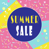 Summer sale banner for booklet, flyer, poster, advertising logo, leaflet for the store template design. The modern image. Royalty Free Stock Photos