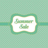 Summer Sale banner. Card template - Card template - Badge with vintage style and polka dots background Royalty Free Stock Images