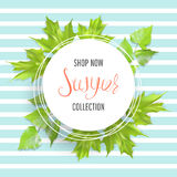 Summer sale banner Stock Photography