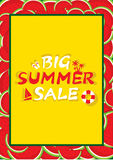 Summer sale banner design Stock Photo