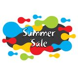 Summer sale banner design. Colorful summer sale banner design abstract shape Stock Photo