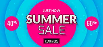 Summer sale banner design. Market discount clearance. Summer sale hot offer poster Royalty Free Stock Photos