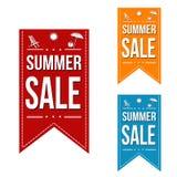 Summer sale banner design set Royalty Free Stock Photography