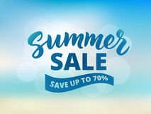 Summer sale banner design template. Abstract beach background Stock Photography