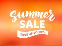 Summer sale banner design template. Abstract sunset sky  Stock Photography