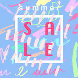 Summer sale banner design template Royalty Free Stock Images