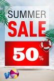 Summer Sale 50% banner design template. Summer Sale 50% banner & Poster design template Royalty Free Stock Images