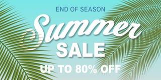 Summer Sale banner design template Stock Image